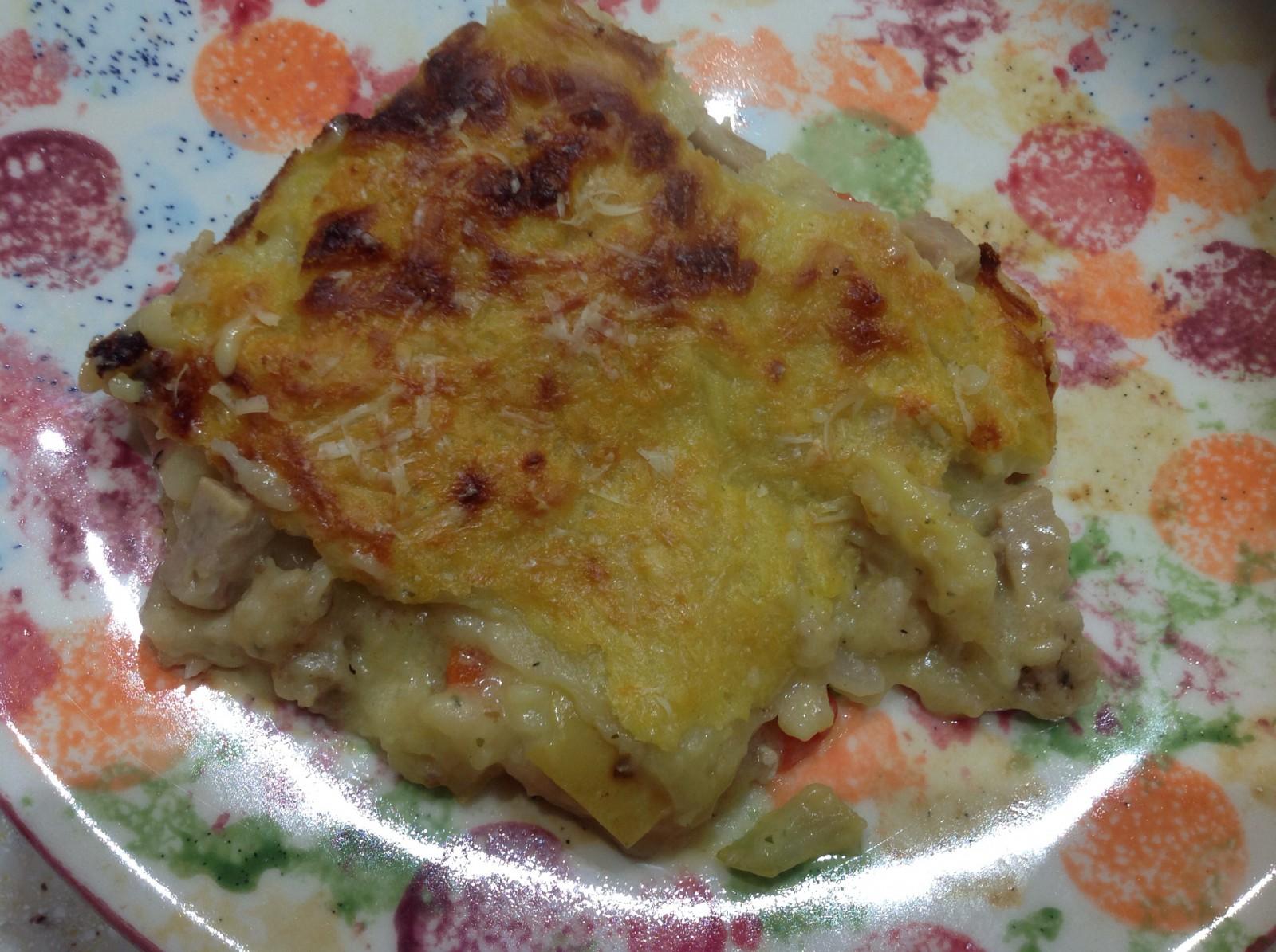 Pork, Apple & Stuffing Lasagna