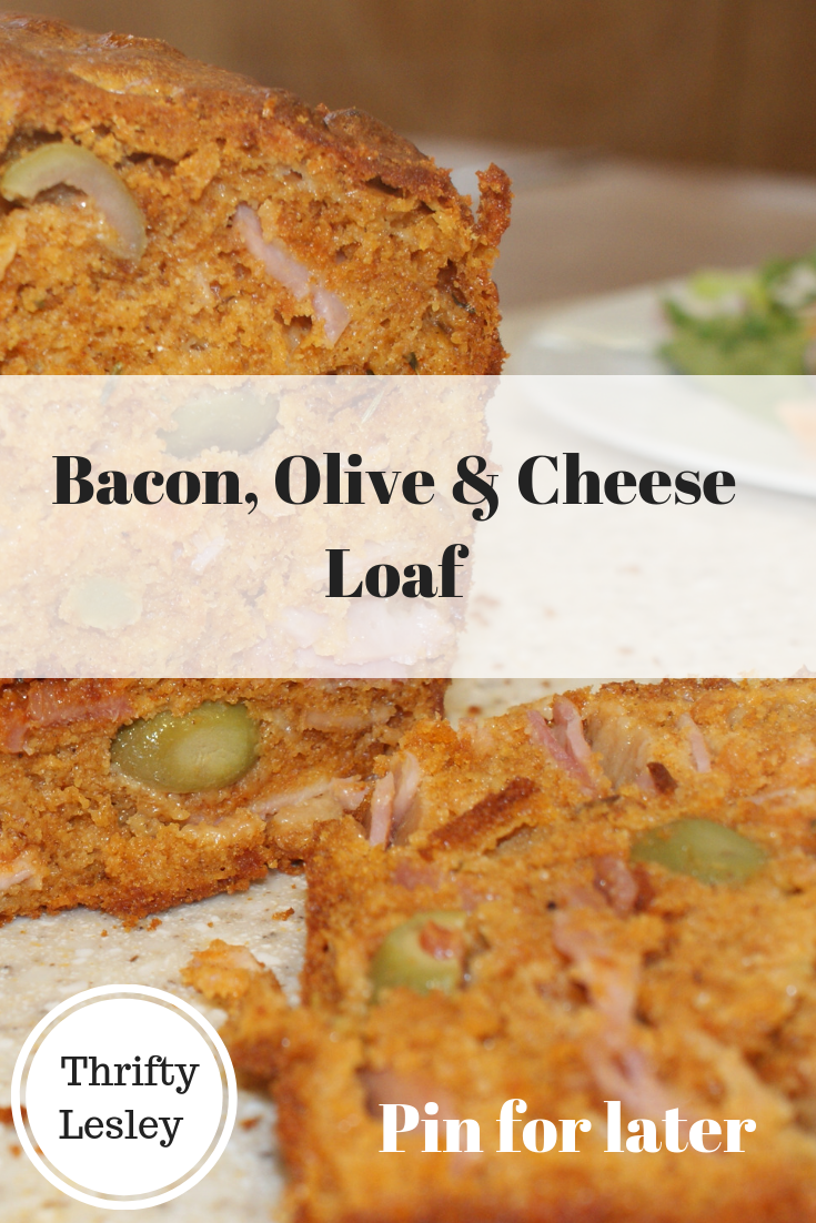 Bacon, Olive & Cheese Loaf for a budget family meal