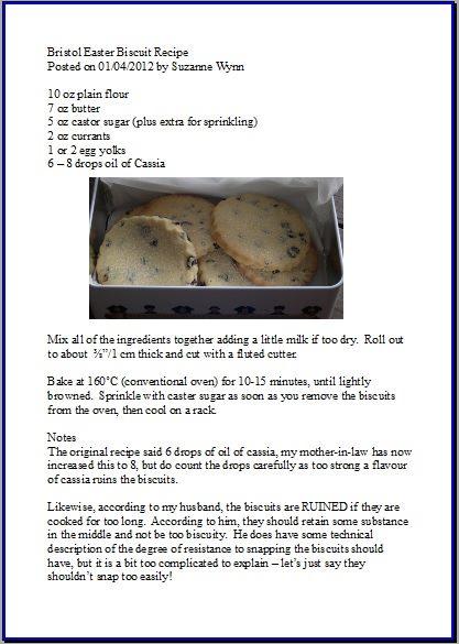 cassia biscuits