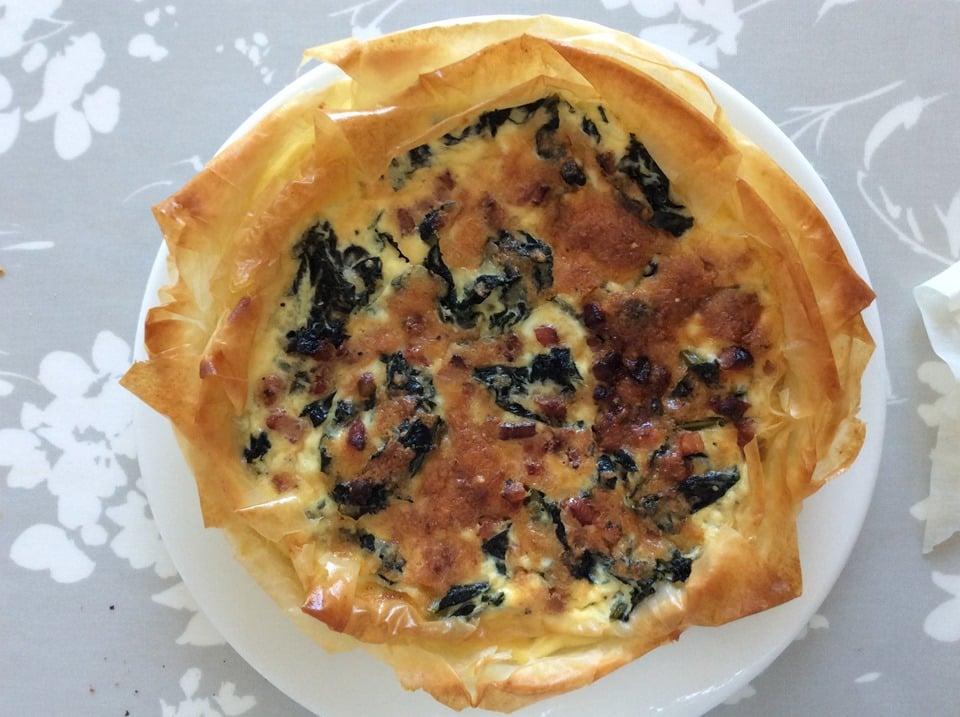 cavolo nero and pancetta tart