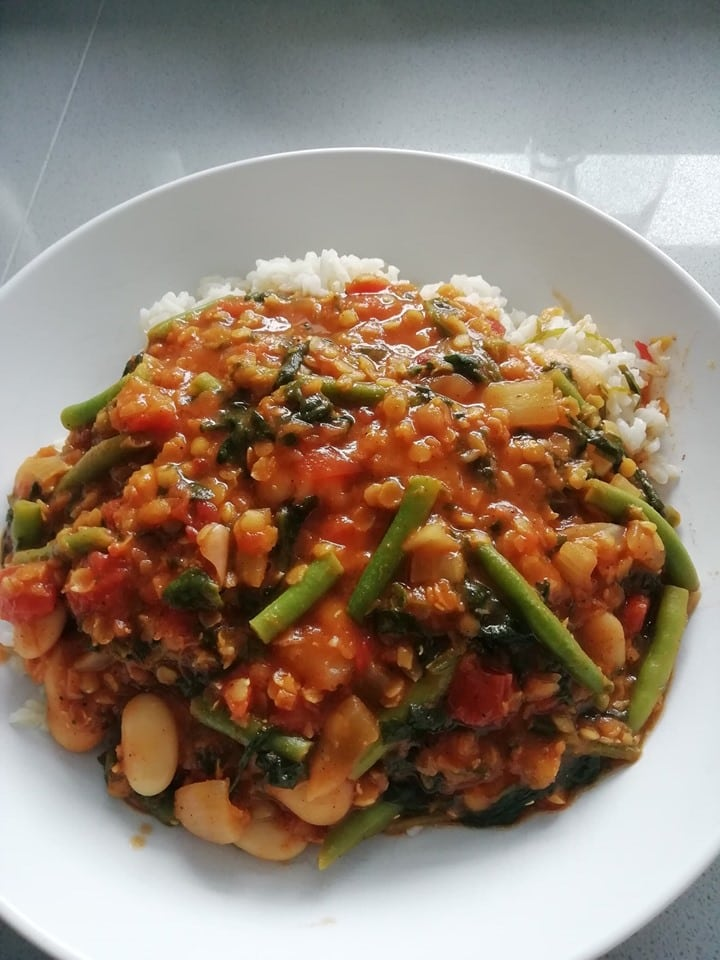 lentil and butter bean curry