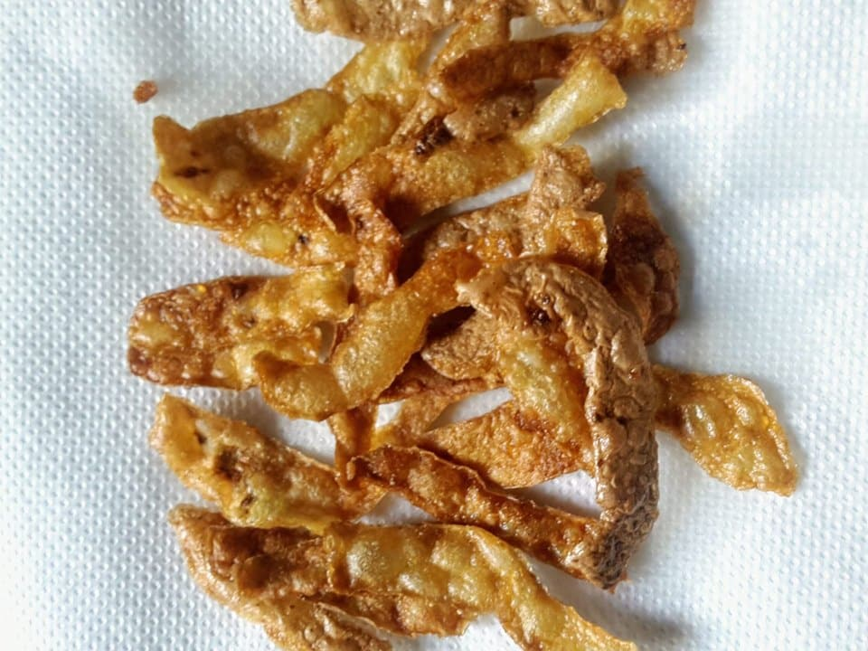 potato peel crisps
