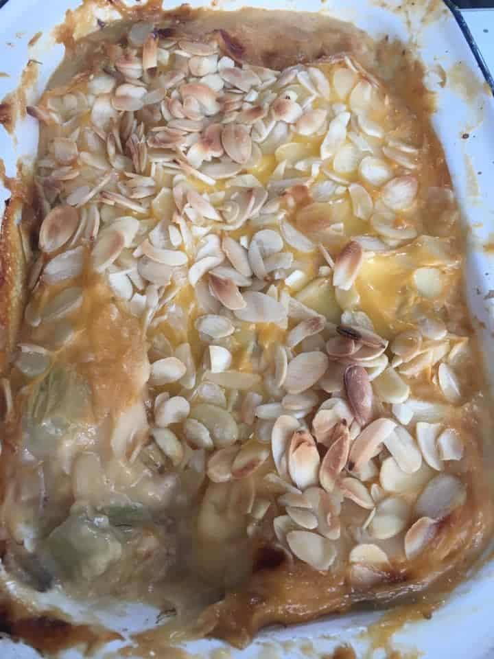 rhubarb lasagna