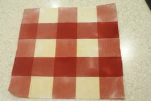 red check beeswax wrap