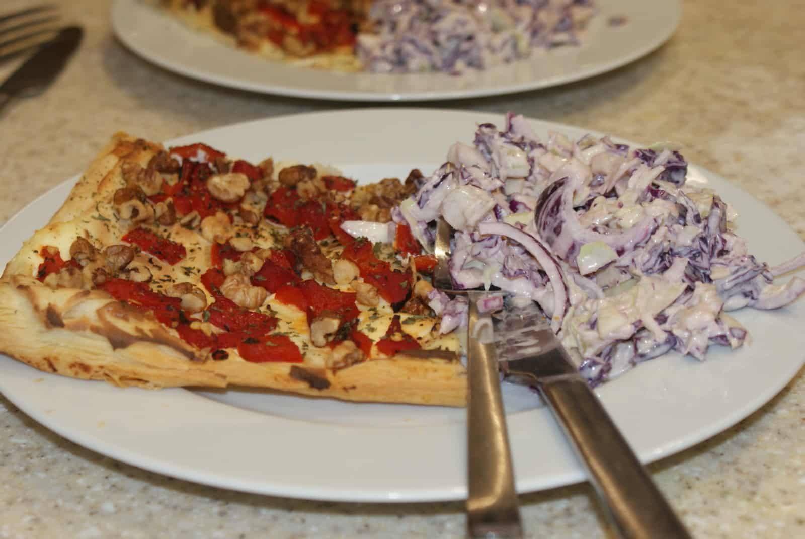 red pepper tart