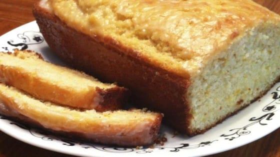 orange bread made using citrus peel