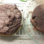 The no eggs cakes turned out of the tins.