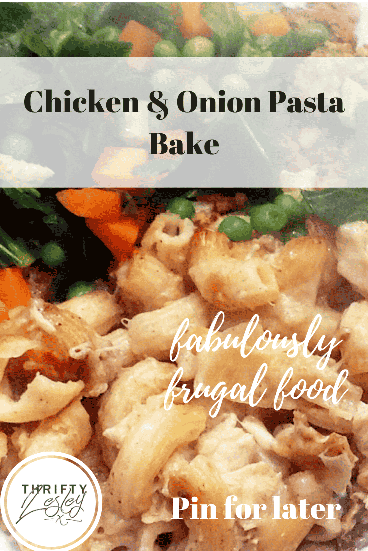 Chicken & Onion Pasta Bake