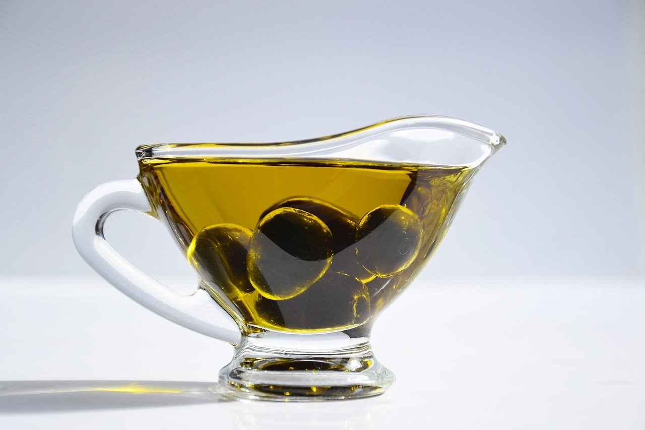 olive oil in a jug