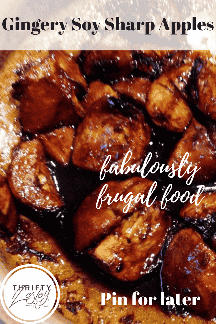 Sharp apples made fabulous with ginger and soy
