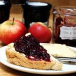Home made sloe and apple jam