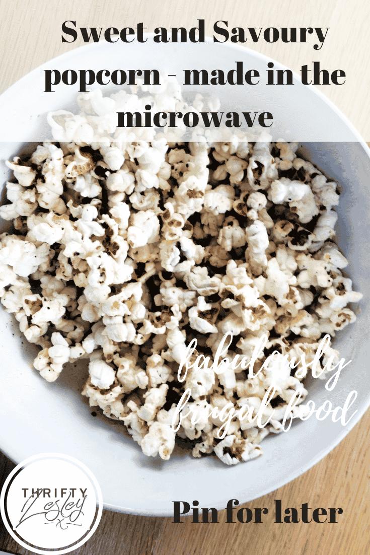 savoury popcorn recipe