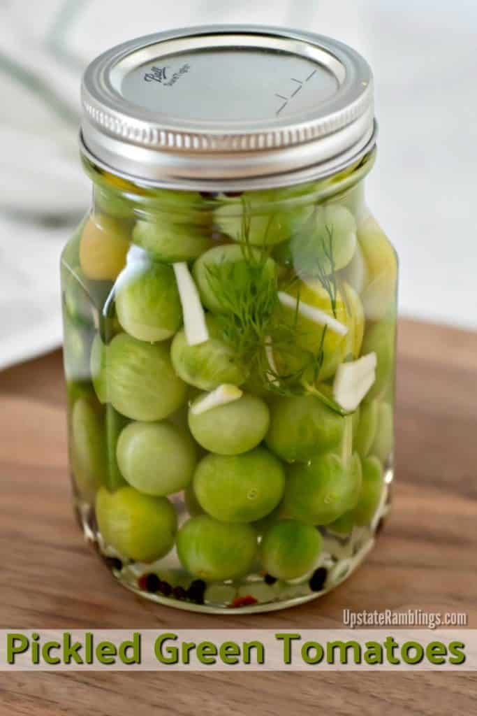 quick pickled green tomatoes