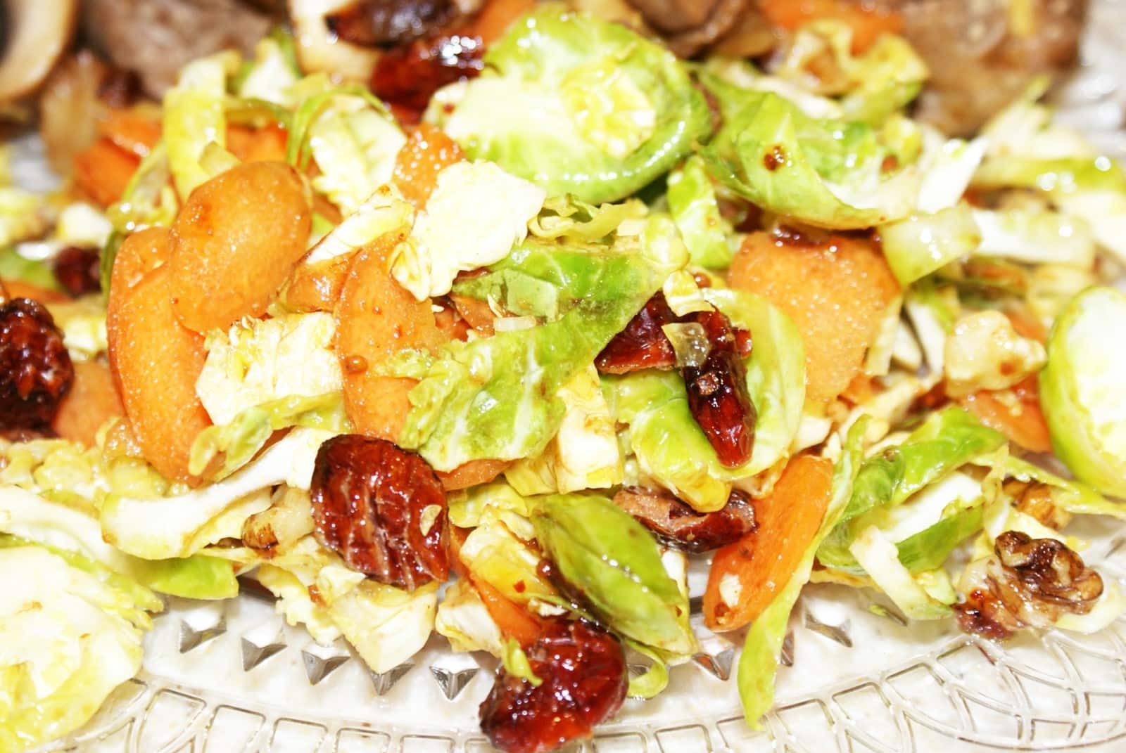 Brussel sprout salad with cranberries