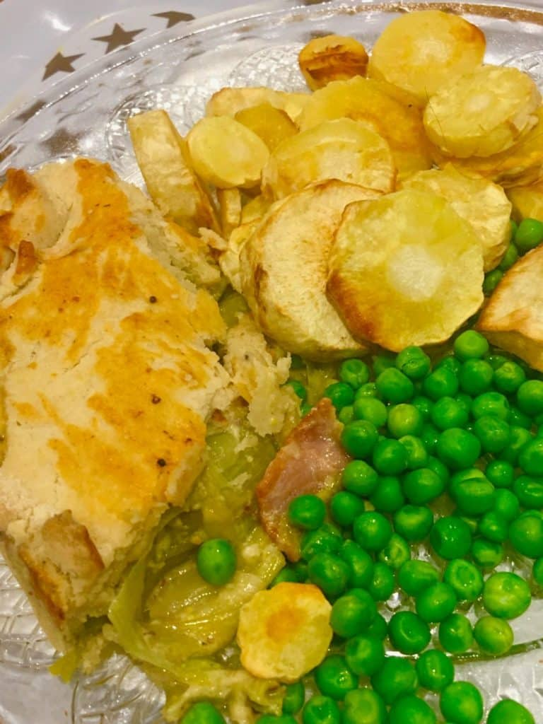 bacon and leek pie