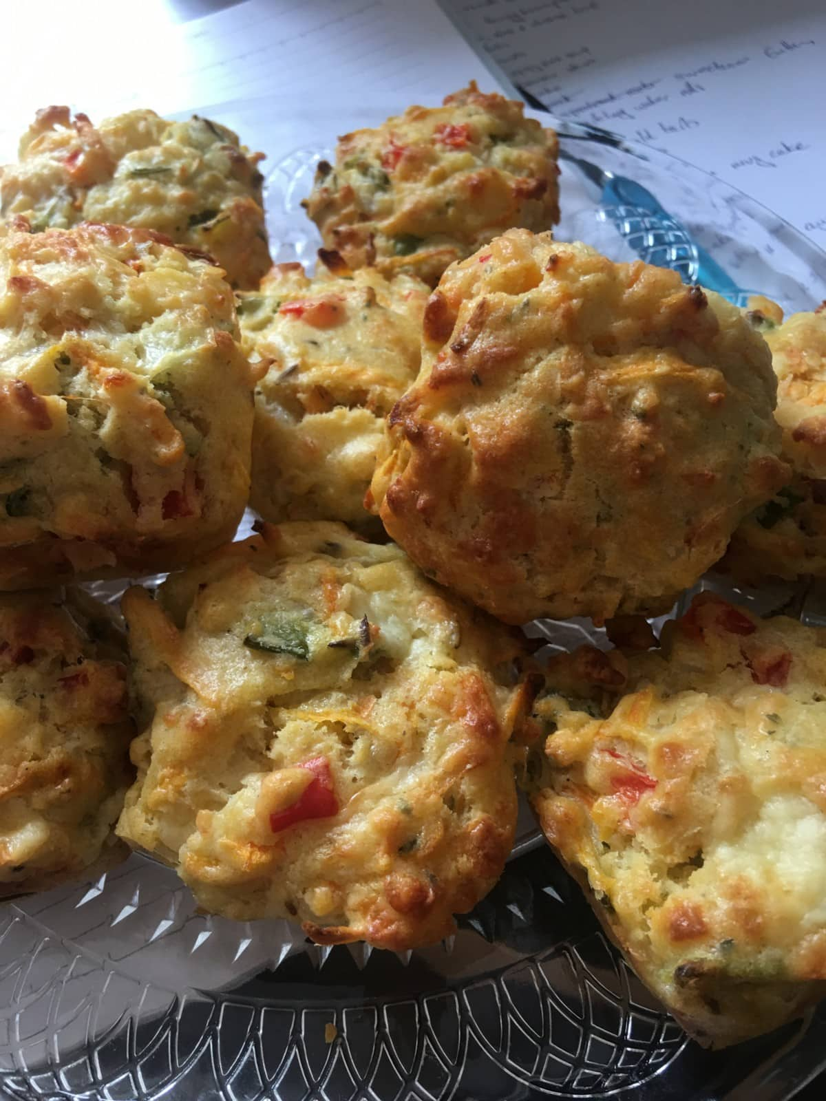 Vegetable Muffins on a plate