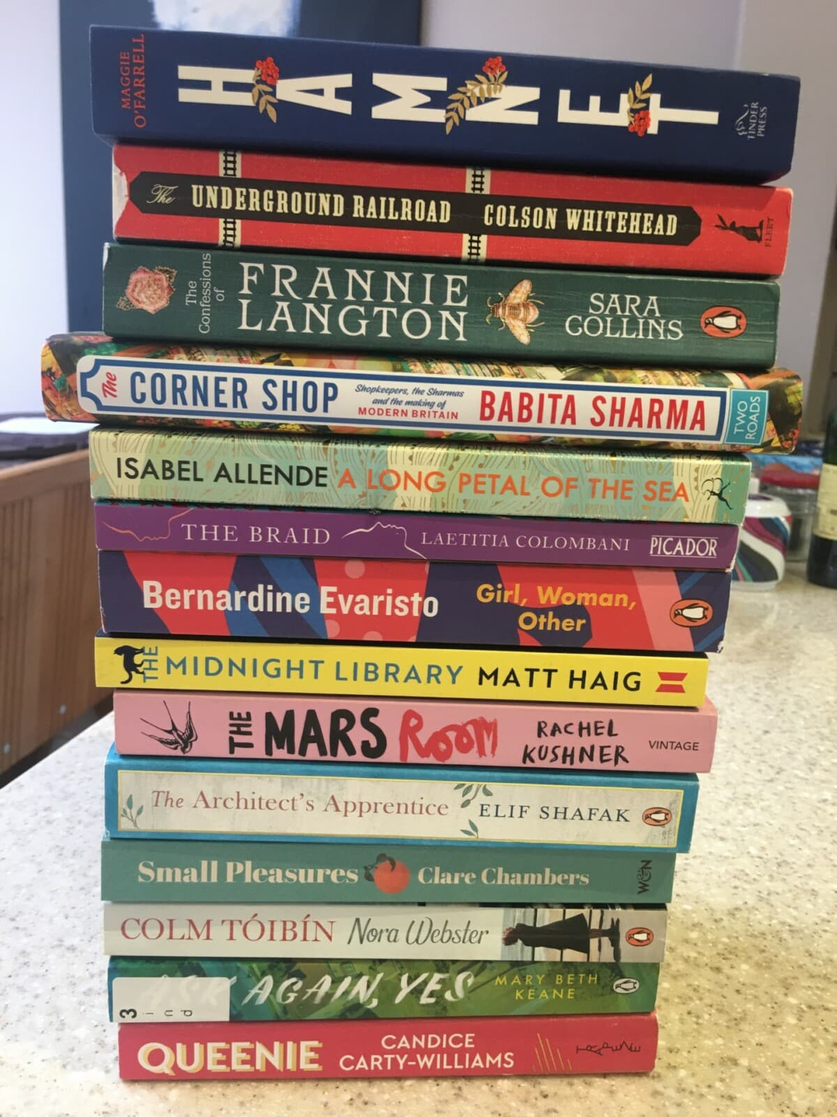 my 'to be read' pile of books