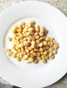 sweetcorn on a plate