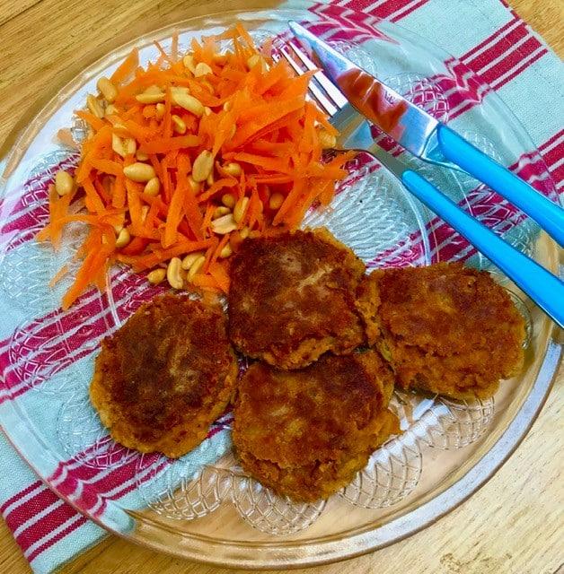 falafel and carrot salad