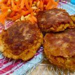 Falafel with carrot salad