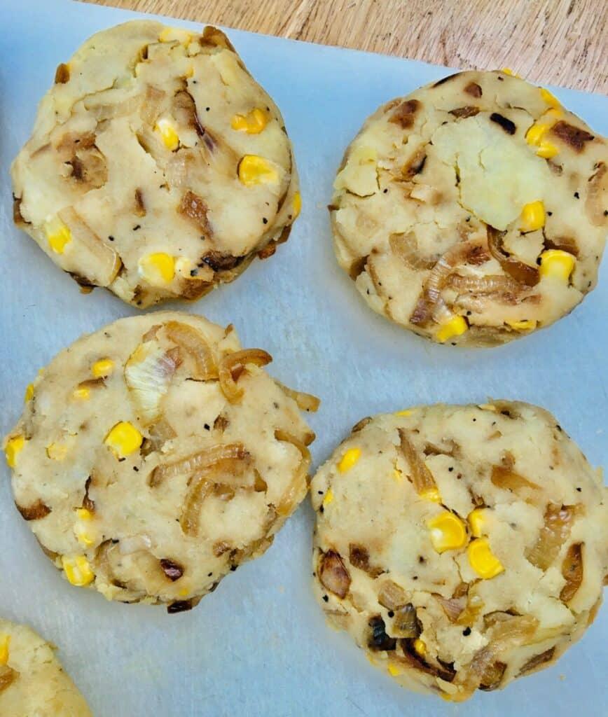 potato cakes - uncooked