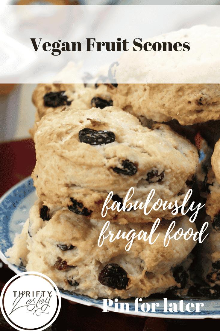 Pinterest image for vegan fruit scones