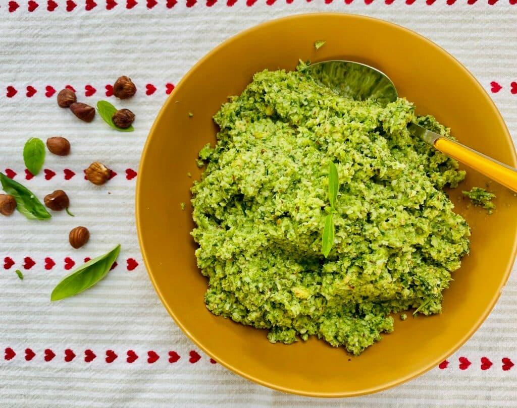 broccoli pesto - in dish