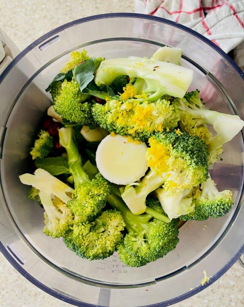 broccoli pesto - in food processor
